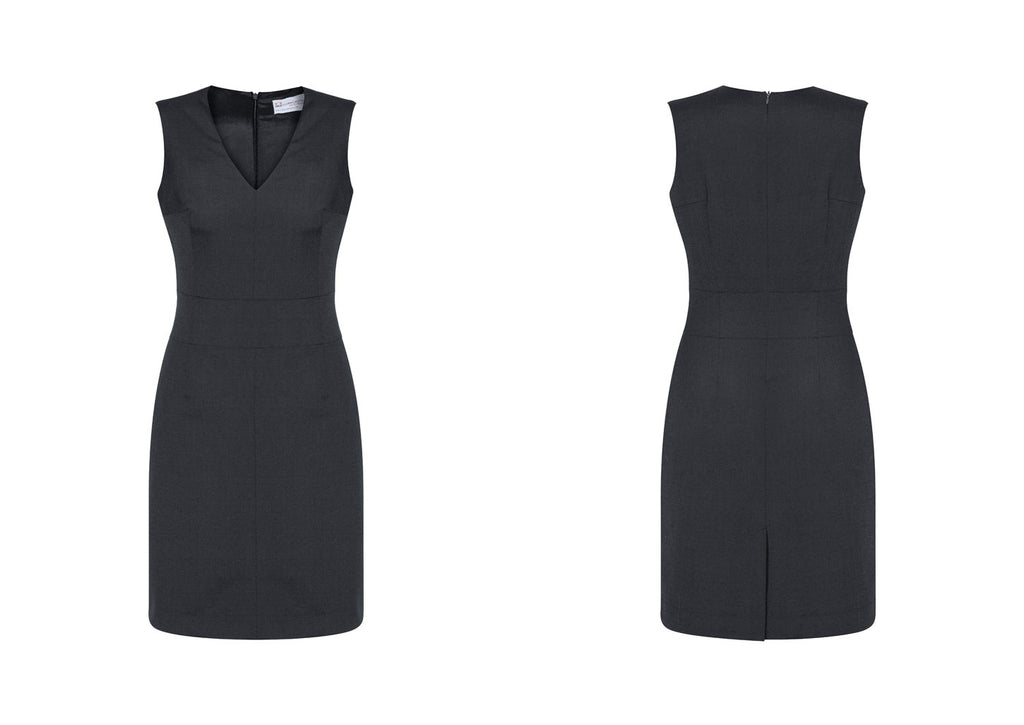 WOMENS SLEEVELESS V NECK DRESS