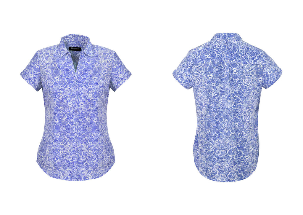 WOMENS SOLANDA PRINT SHORT SLEEVE SHIRT