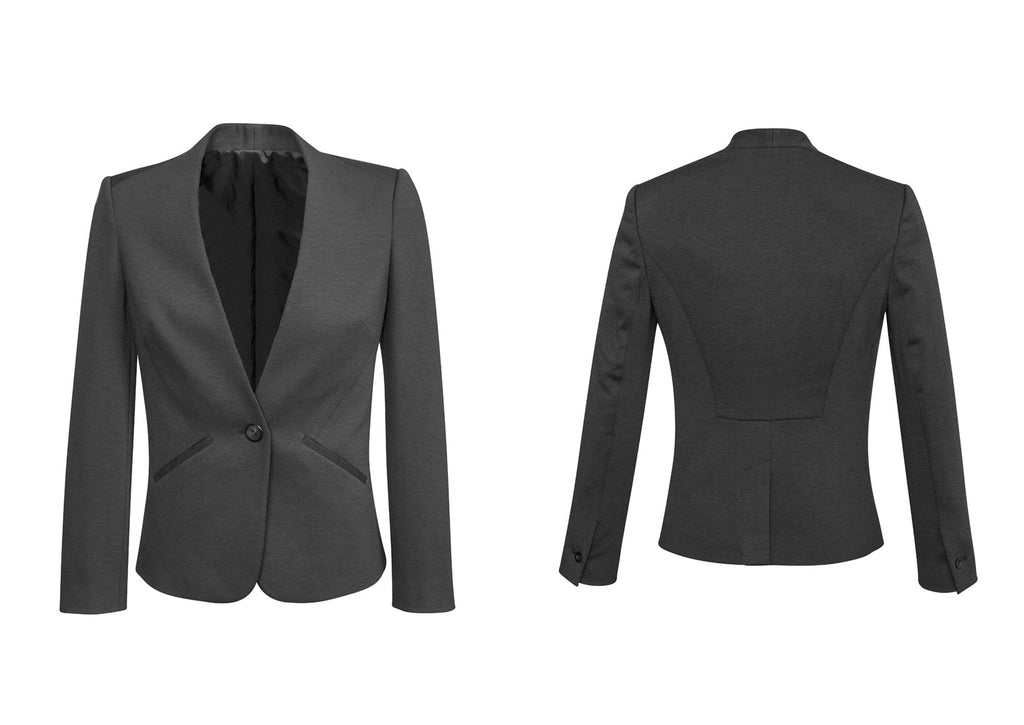 WOMENS COLLARLESS JACKET