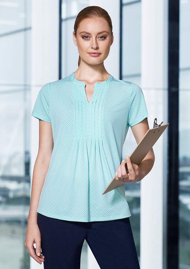 WOMENS ADVATEX ELLA DIAMOND PLEAT KNIT TOP