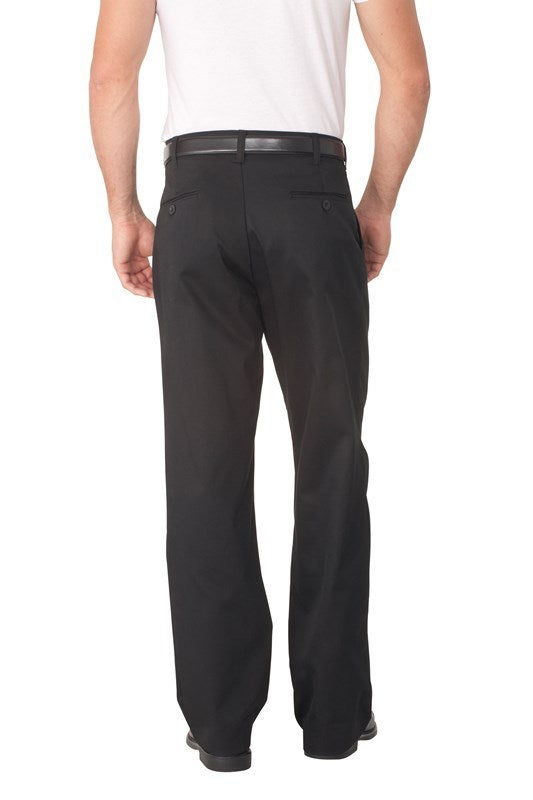 Black Fitted Chef Pant