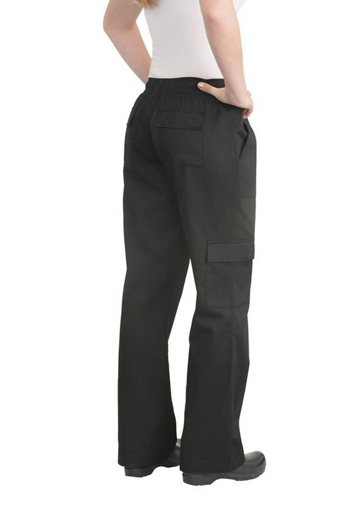 Women's Black Cargo Chef Pant