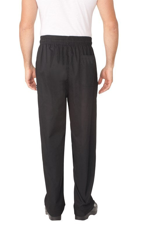 Black Baggy Chef Pants w/ Zipper Fly