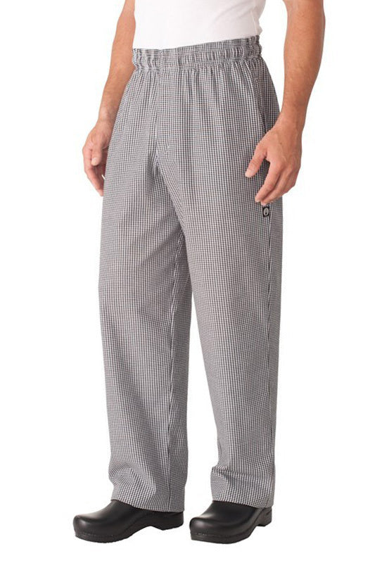 Small Check Baggy Pants w/ Zipper Fly