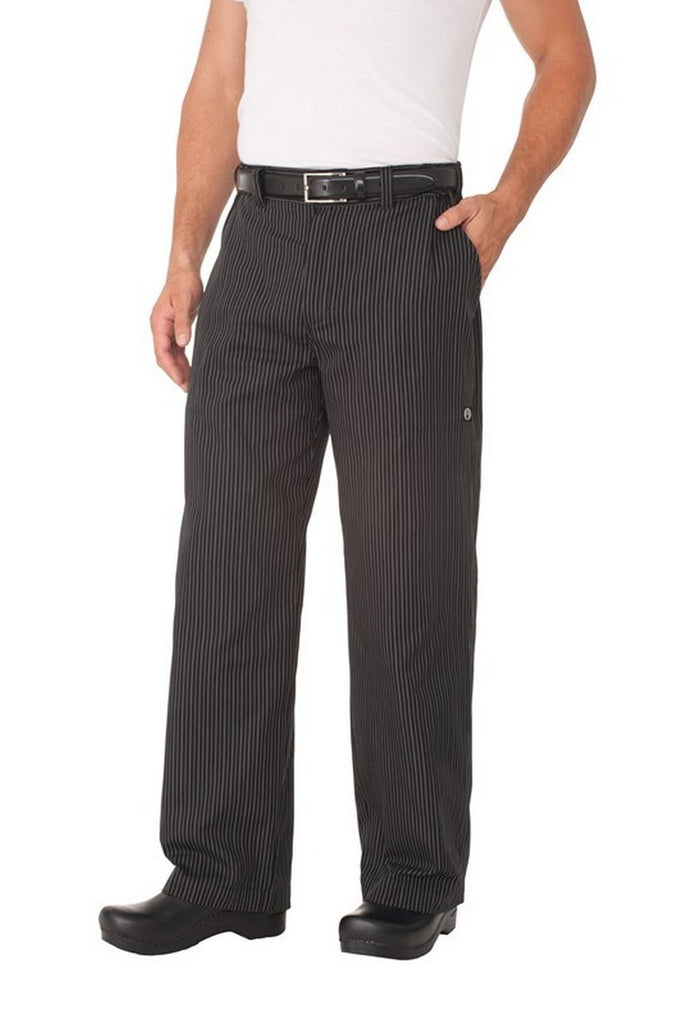 Professional Grey Stripe Chef Pants