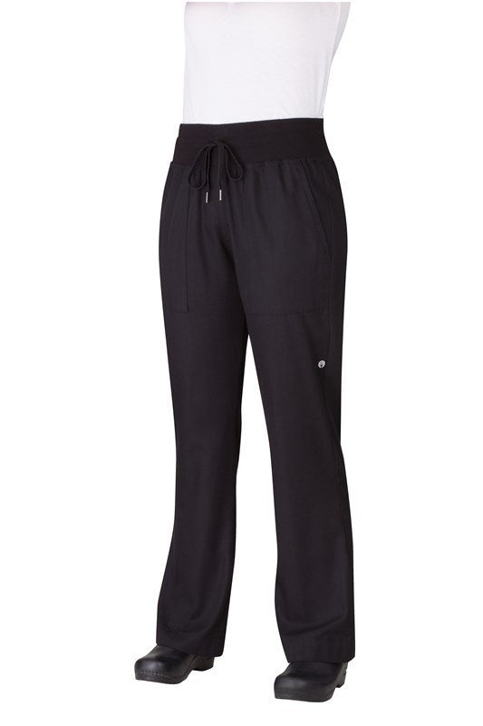 Comfi Women's Black Chef Pants