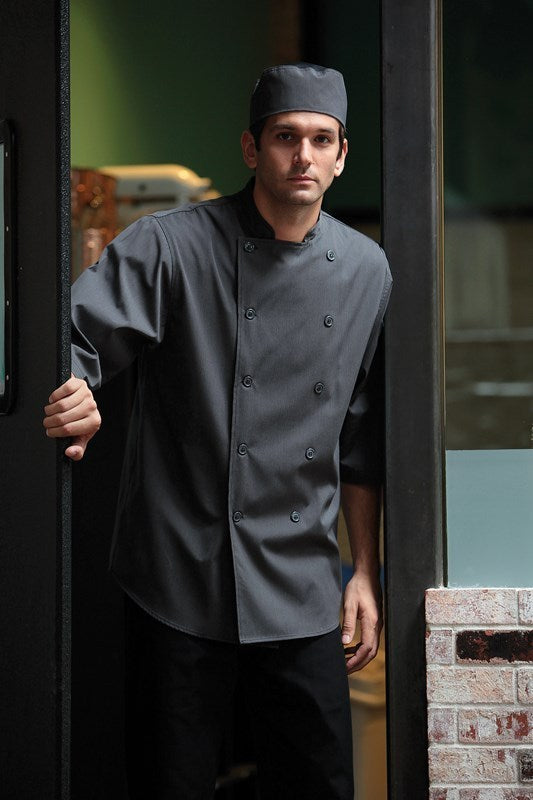 Deep Grey 3/4 Sleeve Chef Shirt
