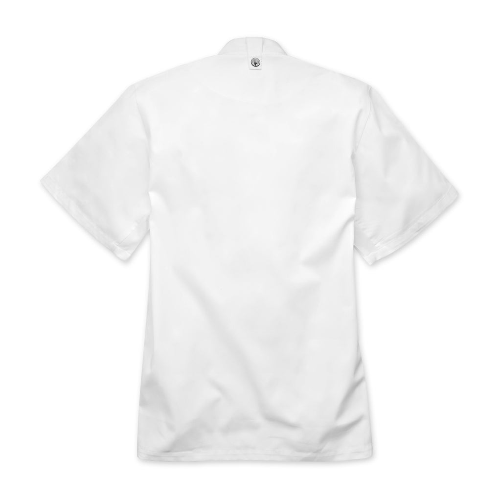 Cannes Press Stud White Chef Jacket