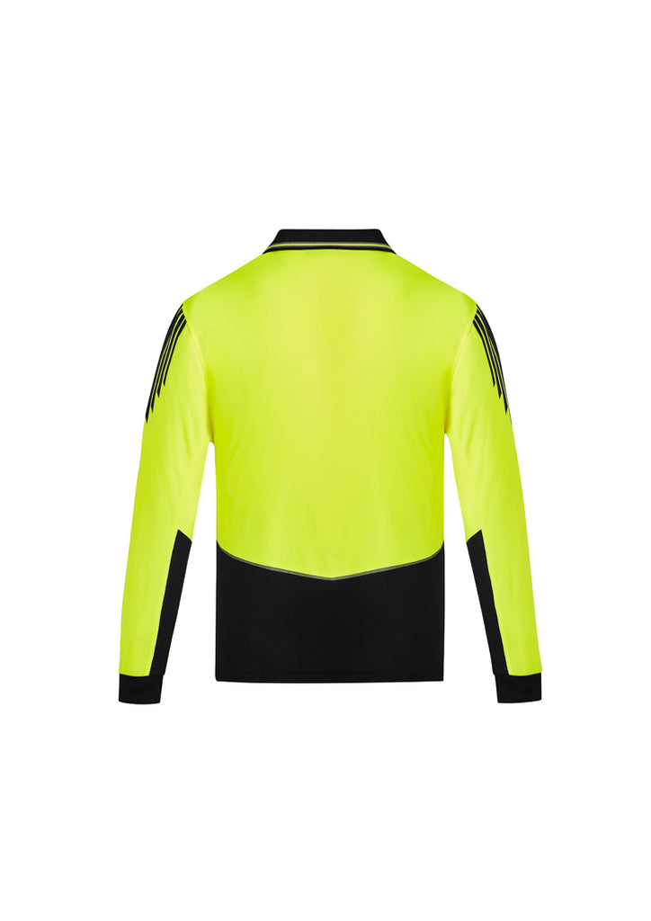 MENS HI VIS FLUX L/S POLO