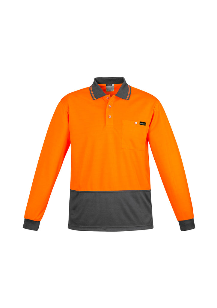 MENS COMFORT BACK L/S POLO