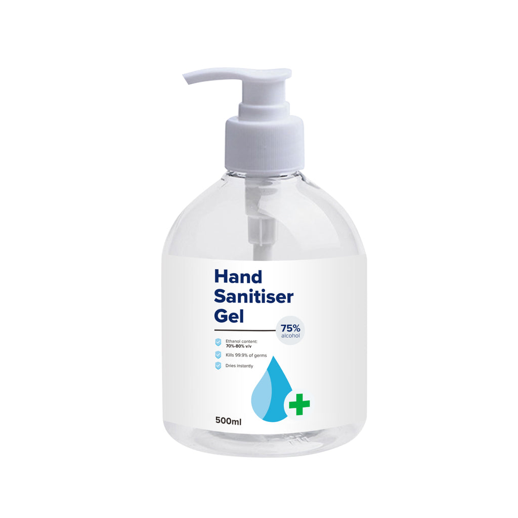 500ml Sanitiser Gel - $7.50each MOQ 50 Bottles