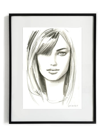 Portrait Drawing with Fringe