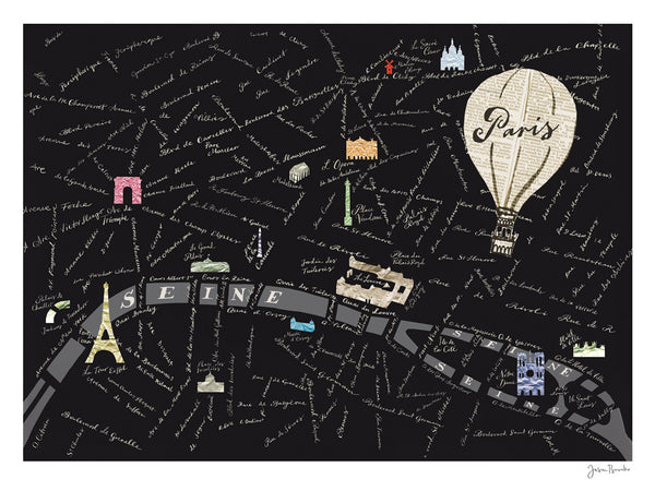 Paris Sketchbook : Paris Map
