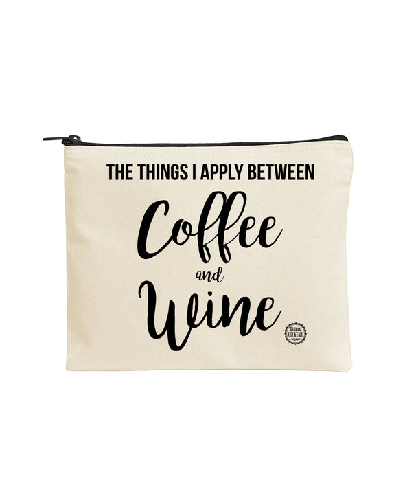 Large Make Up Pouch - Coffee & Wine