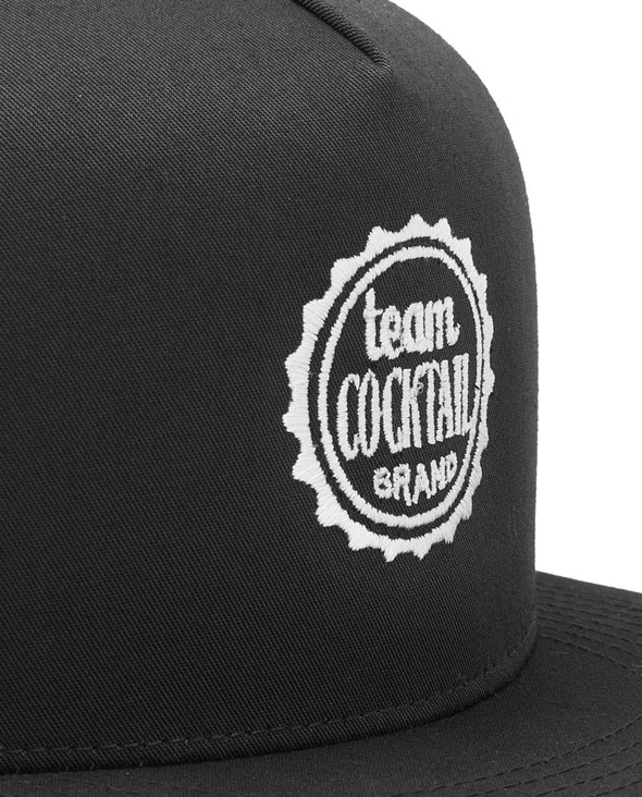 Team Cocktail Logo Black Classic Snapback