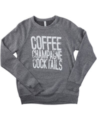 Coffee Champagne Cocktails Sweatshirt