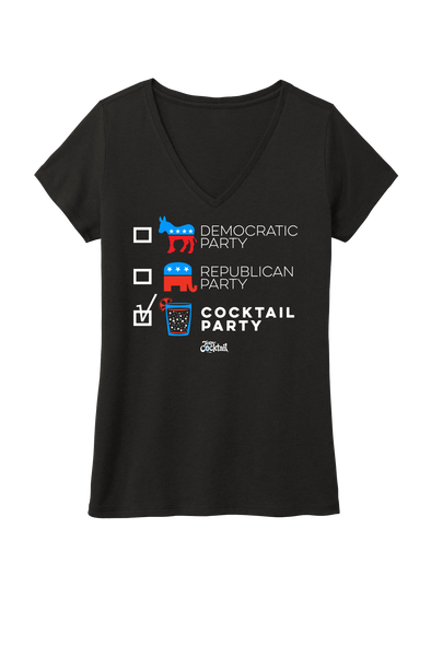 COCKTAIL PARTY Ladies Vneck Tee