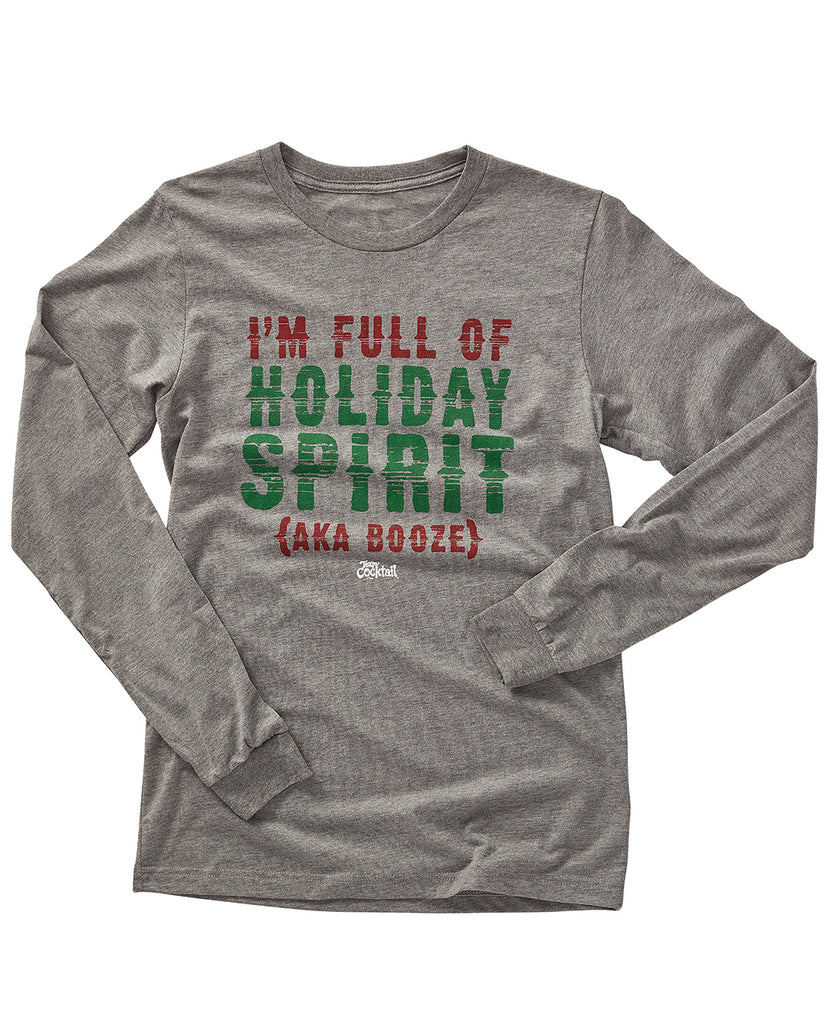 Holiday Spirit {aka Booze} Long-Sleeve
