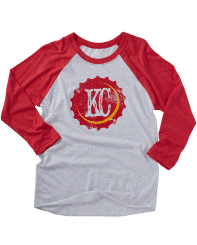 (Chiefs) KC Bottle Cap Raglan Tee