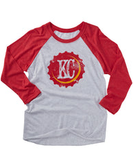 KC Bottle Cap Baseball Tee Red