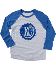 (Royals) KC Bottle Cap Baseball Tee