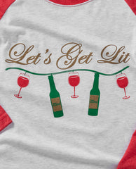 Let's Get Lit - Holiday Baseball Tee