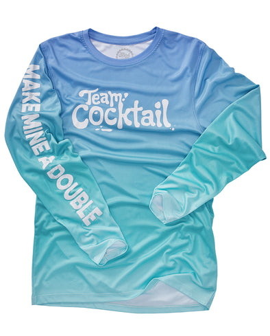 Make Mine A Double Logo Performance Long-sleeve Tee (BLUE)