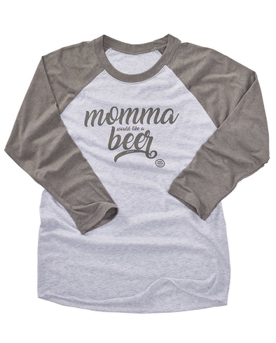 Momma Beer Baseball Tee