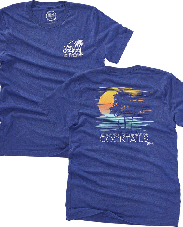 Sunny, Chance of Cocktails Unisex Tee