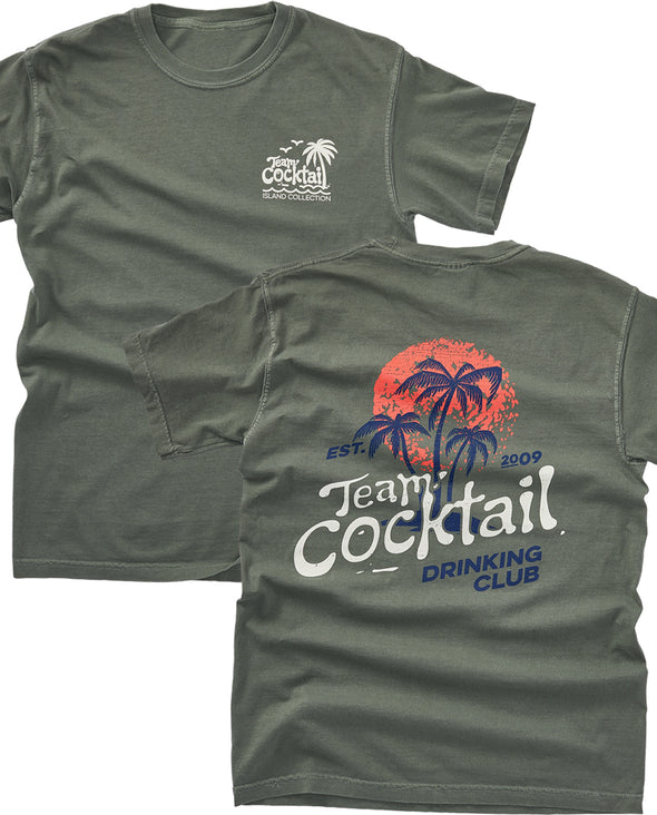 Team Cocktail Drinking Club Comfort Colors Unisex Tee