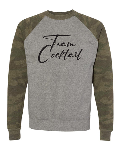 Team Cocktail Camo Raglan Sweatshirt
