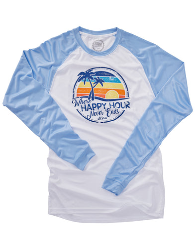 Sunset Happy Hour Unisex Performance Long-sleeve Tee