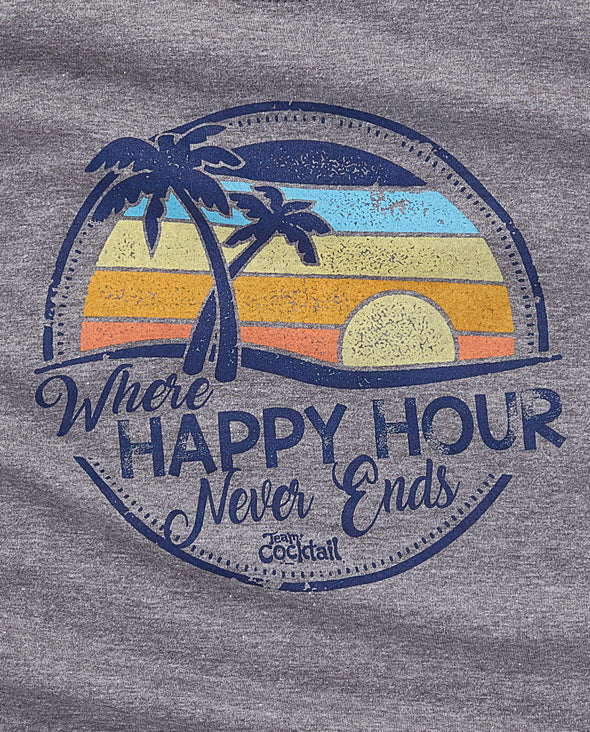 Sunset Happy Hour Ladies Triblend Tank