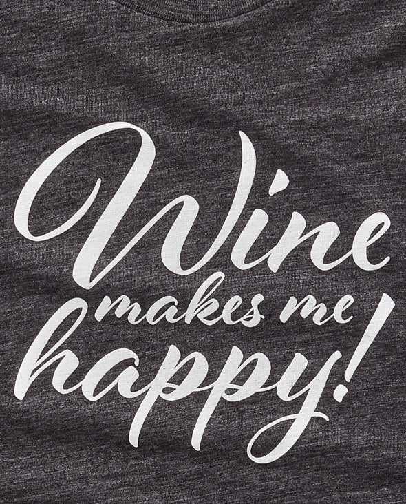 Wine Makes Me Happy Long-Sleeve Tee