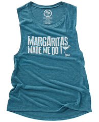 Margaritas Made Me Do It Ladies Tank