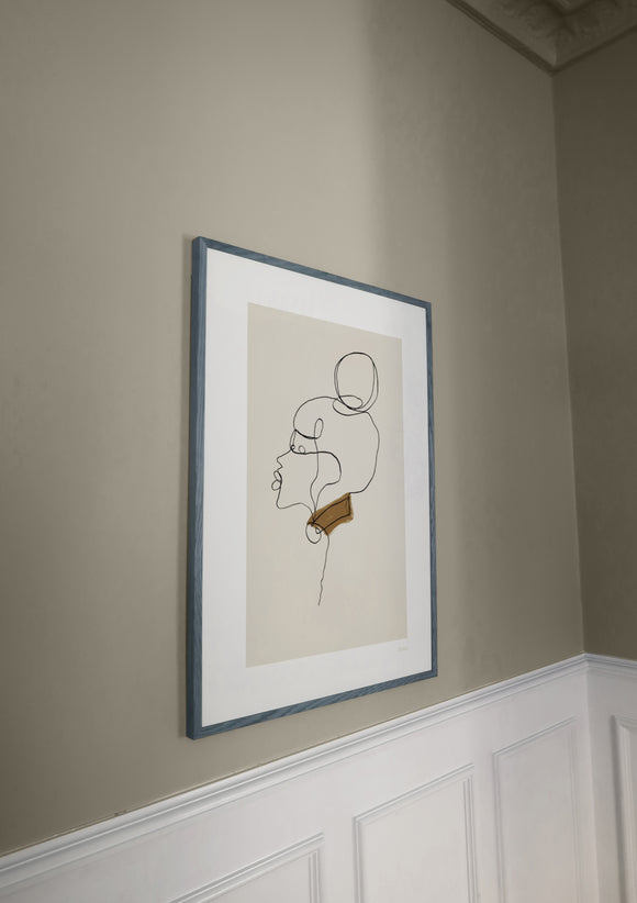 Mudita - from flavo.shop first collection. Art print with projected frame (frame not included)