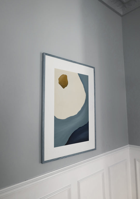 Ripples - from flavo.shop first collection. Art print with projected frame (frame not included)