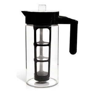 Borosilicate Glass Cold Brew Pitcher with 2 Filters