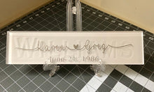 Load image into Gallery viewer, Wedding / Anniversary / Birthday Glass Tile
