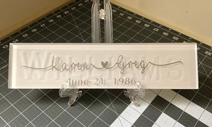 Wedding / Anniversary / Birthday Glass Tile