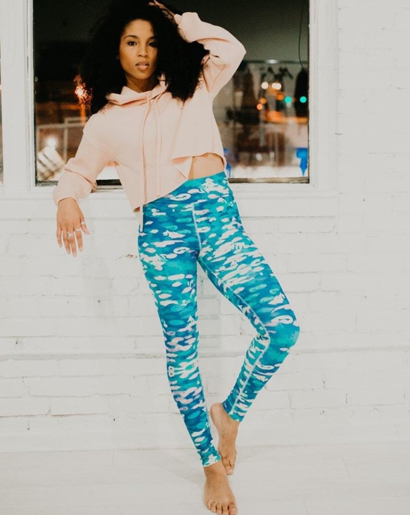 Water Lilies Long Leggings