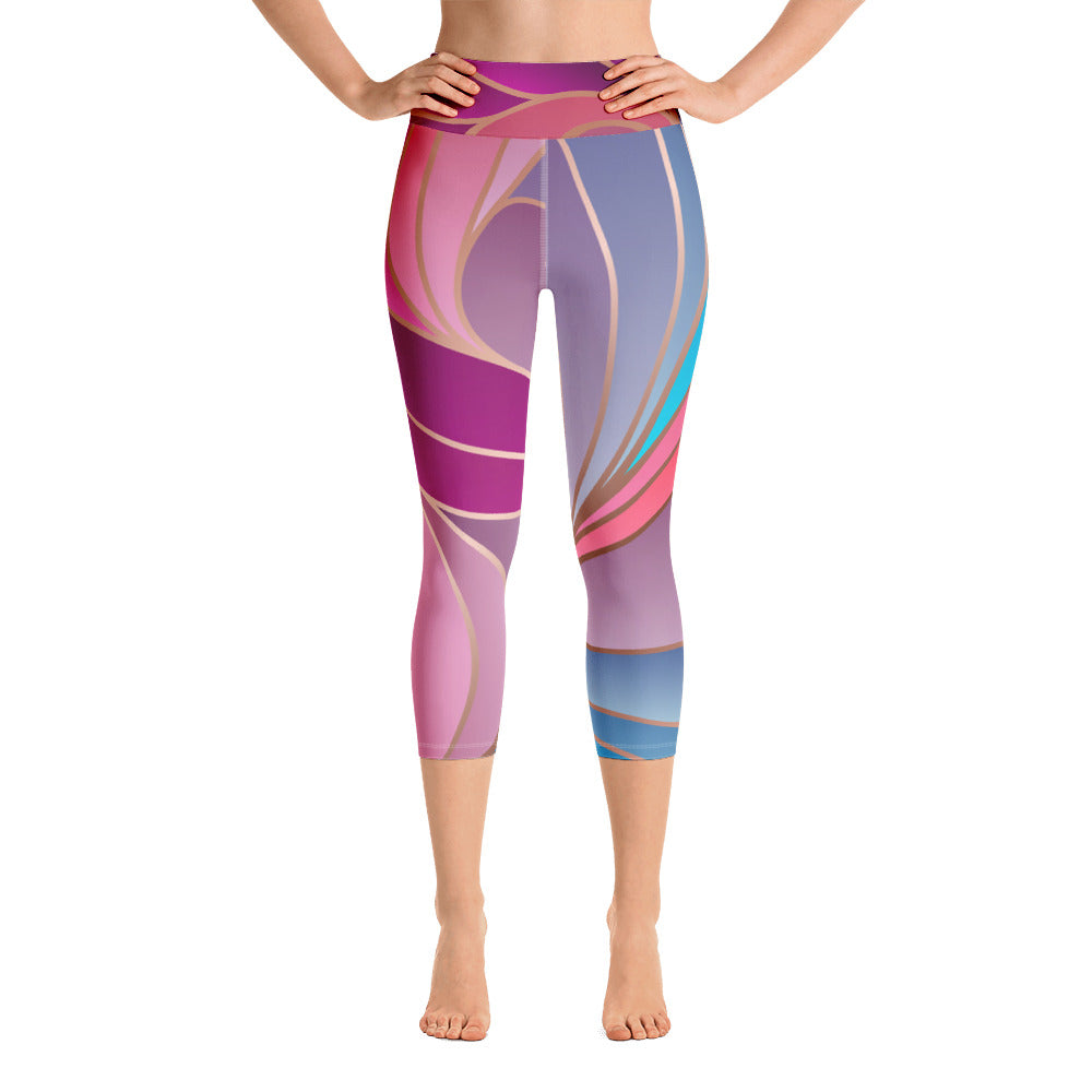 Art Nouveau Capri Leggings