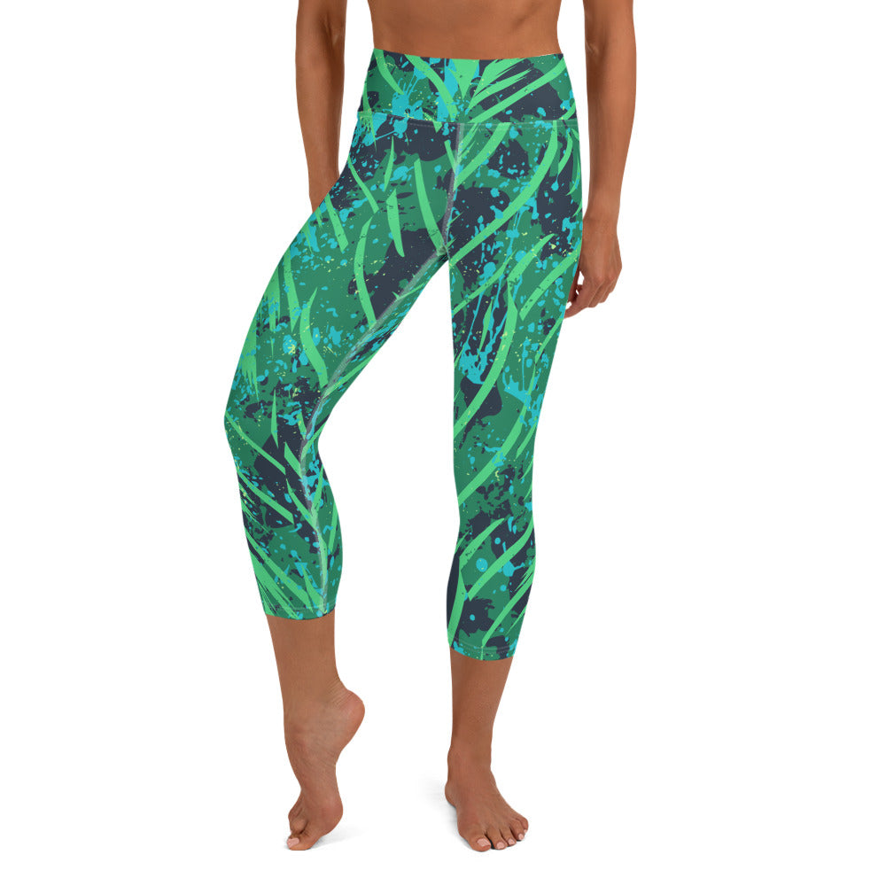 Queen Palm Capri Leggings