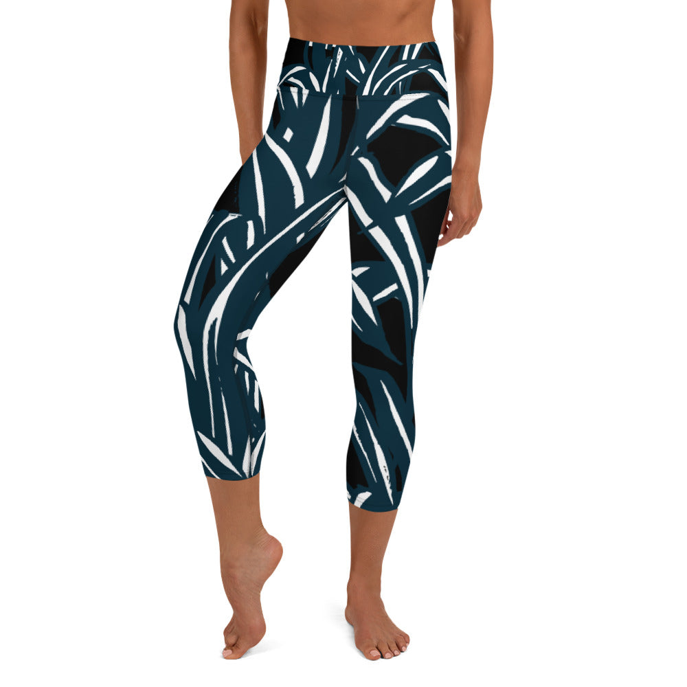 Black Bamboo Capri Leggings