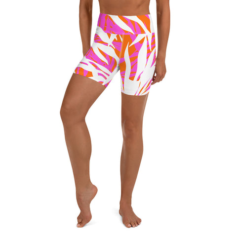 Queen Palm Yoga Shorts