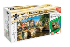 Puzzle Master Scenic Locations 1000 Piece Puzzle with Puzzle Mat - Amsterdam