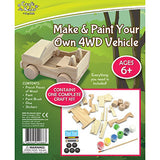 BMS Craft for Kids Make and Paint Your Own 4WD Vehicle