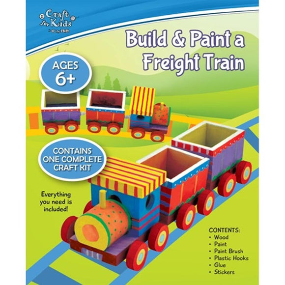 BMS Craft for Kids Build & Paint a Freight Train