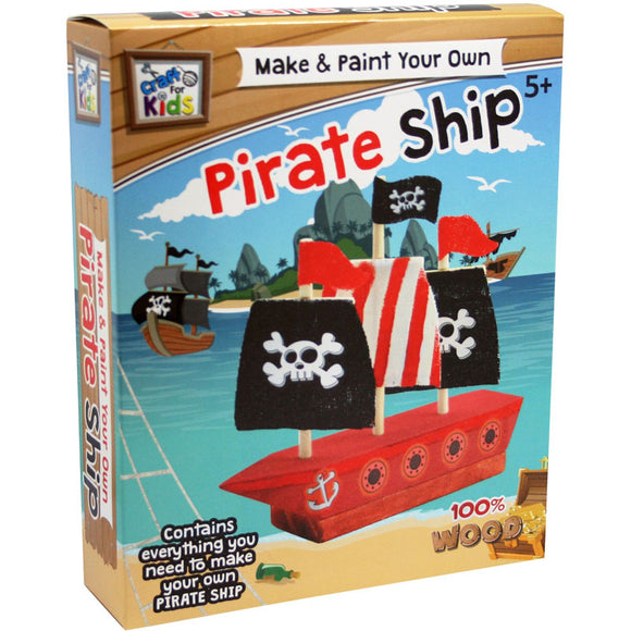 BMS Craft for Kids Make & Paint Your Own Pirate Ship