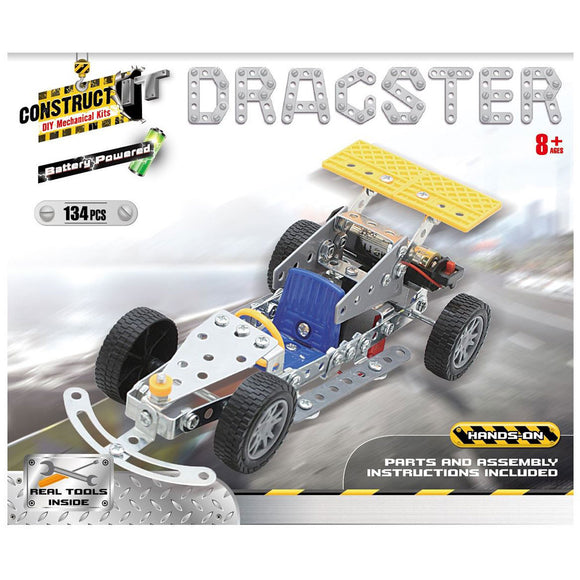 Construct-It DIY Mechanical Kits - Battery Powered Dragster